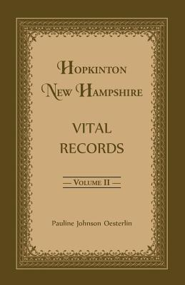 Image for Hopkinton, New Hampshire, Vital Records, Volume 2