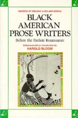 Image for Black American Prose Writers: Before the Harlem Renaissance (Writers of English)