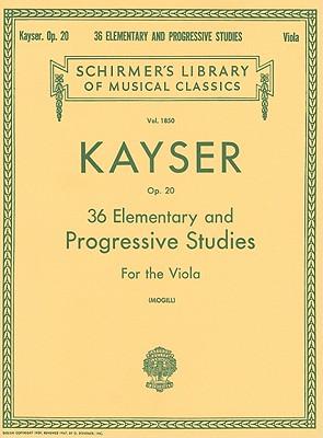 36 Elementary and Progressive Studies: Viola Method (String Solo)