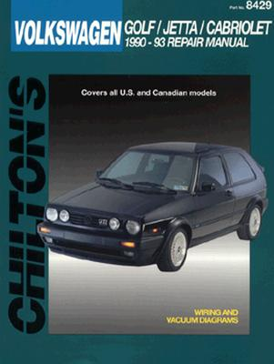 Image for VOLKSWAGEN GOLF / JETTA / CABRIOLET 1990-93 REPAIR MANUAL PART NO. 8429