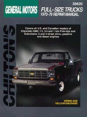 Image for General Motors Full-Size Trucks, 1970-79 (Chilton's Total Car Care Repair Manual) (Chilton Total Car Care Series Manuals)