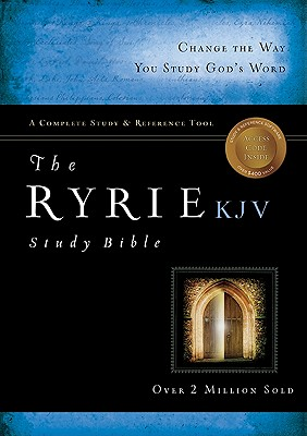 Image for The Ryrie KJV Study Bible Genuine Leather Black- Red Letter