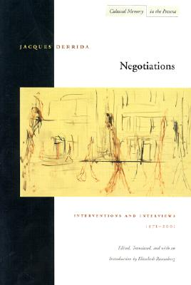 Image for Negotiations: Interventions and Interviews, 1971-2001 (Cultural Memory in the Present)