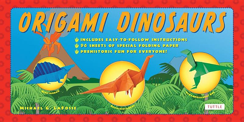 Image for Origami Dinosaurs Kit: Includes 2 Origami Books, 20 Fun Projects and 98 High-Qua