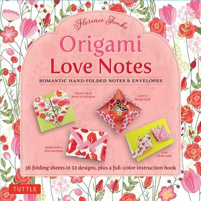 Image for Origami Love Notes Kit: Romantic Hand-Folded Notes & Envelopes: Kit with Origami Book, 12 Original Projects and 36 High-Quality Origami Papers