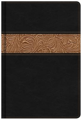 Image for KJV Reader's Bible, Black/Brown Tooled LeatherTouch