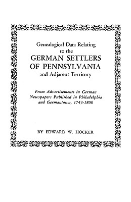Image for Genealogical Data Relating to the German Settlers of Pennsylvania