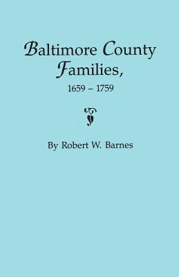 Image for Baltimore County Families, 1659-1759
