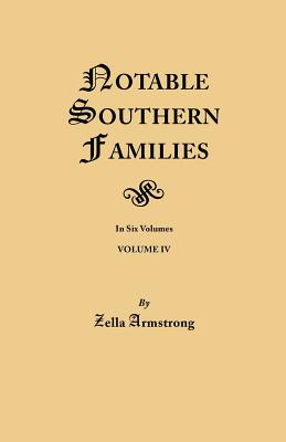 Image for Notable Southern Families, Volume IV