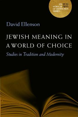 Image for Jewish Meaning in a World of Choice: Studies in Tradition and Modernity (A JPS Scholar of Distinction Book)