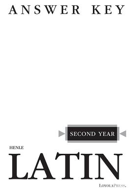 Image for Henle Latin Second Year Answer Key
