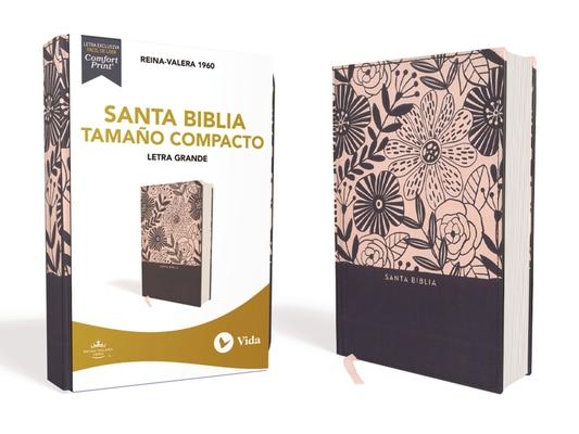 Image for RVR60 Santa Biblia, Letra Grande, Tamaño Compacto, Tapa Dura/Tela, Azul Floral, Edición Letra Roja (Spanish Edition)