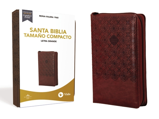 Image for RVR60 Santa Biblia, Letra Grande, Tamaño Compacto, Leathersoft, Café, Edición Letra Roja, con Cierre (Spanish Edition)