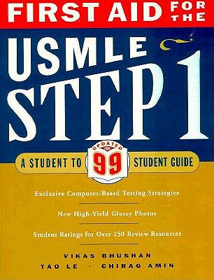 Image for First Aid for the USMLE Step 1: A Student to Student Guide