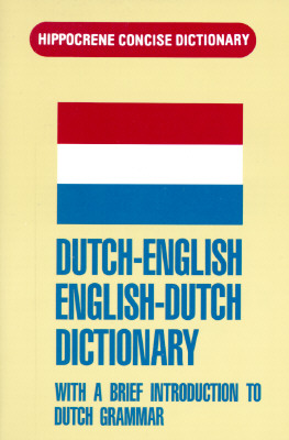 Dutch-English/English-Dutch Concise Dictionary (Hippocrene Concise Dictionary)