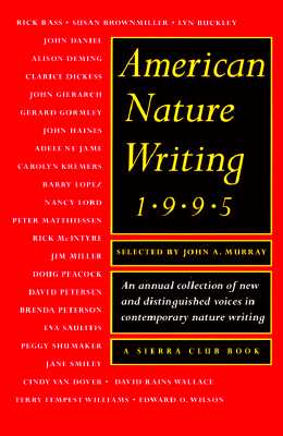 Image for American Nature Writing 1995 (American Nature Writing Ser.)