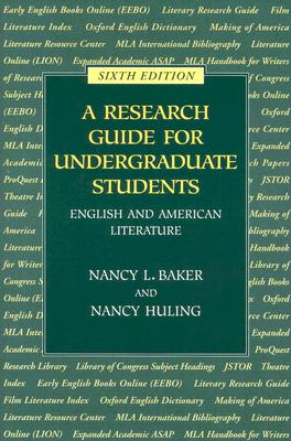 Image for RESEARCH GUIDE FOR UNDERGRADUATE STUDENTS SIXTH EDITION