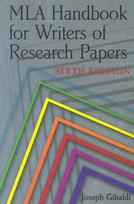 Image for MLA Handbook for Writers of Research Papers