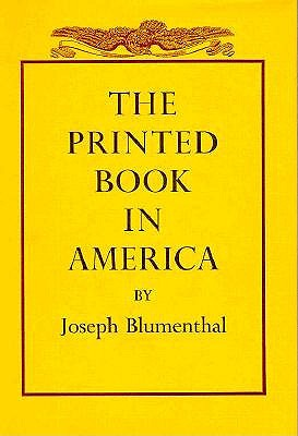 Image for The Printed Book in America