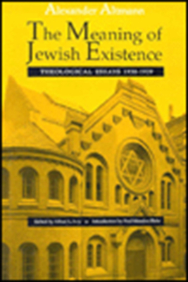 Image for The Meaning of Jewish Existence: Theological Essays 1930-1939 (The Tauber Institute Series for the Study of European Jewry)