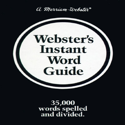 Image for Websters Instant Word Guide