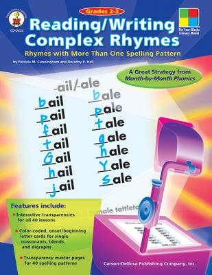 Image for Reading/Writing Complex Rhymes, Grades 2 - 3: Rhymes with More Than One Spelling Pattern (The Four-Bolcks Leteracy Model)