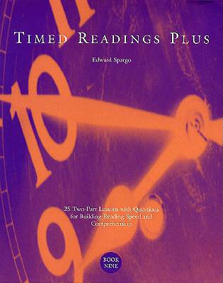 Image for Timed Readings Plus:  25 Two-Part Lessons with Questions for Building Reading Speed and Comprehension, Book Four