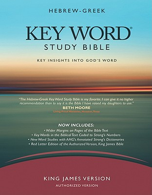 Image for Hebrew-Greek Key Word Study Bible: King James Version Genuine Black Wider Margin