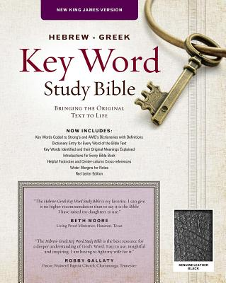 Image for Hebrew-Greek Key Word Study Bible: New King James Versioin Genuine Leather Black (Key Word Study Bibles)