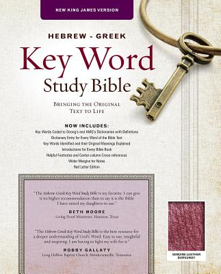 Image for Hebrew-Greek Key Word Study Bible: New King James Version Genuine Leather Burgundy (Key Word Study Bibles)