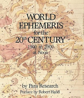 Image for World Ephemeris for the 20th Century, 1900 to 2000 at noon