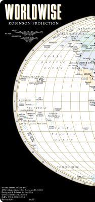 Streetwise World Map - Laminated Map of the World - WORLDWISE, Streetwise Maps
