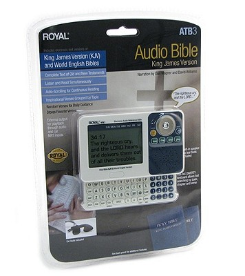 KJV/WEB Royal Electronic Bible & KJV Audio Bible Player With Pull-Out Keyboard, Royal