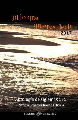Di lo que quieres decir 2017 (Spanish Edition), Schaefer R�der, Patricia