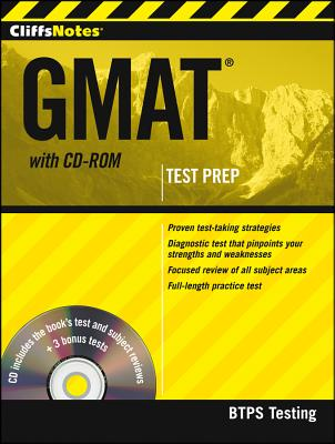 CliffsNotes GMAT with CD-ROM, BTPS Testing