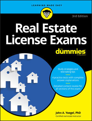 Image for Real Estate License Exams For Dummies, with 4 Practice Tests