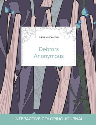 Adult Coloring Journal: Debtors Anonymous (Turtle Illustrations, Abstract Trees), Wegner, Courtney