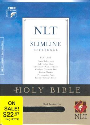 Image for Holy Bible: New Living Translation, Leatherlike Grey, Slimline Reference