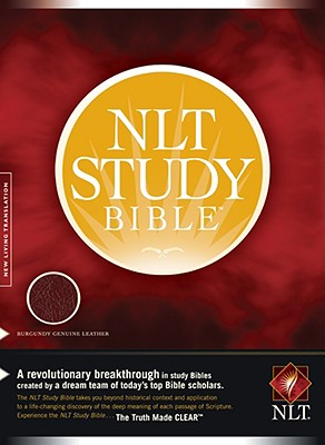 Image for NLT Study Bible (New Living Translation, Genuine Leather, Burgundy)