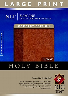 Image for Slimline Reference Bible NLT, Large Print, TuTone Center Column Reference edition