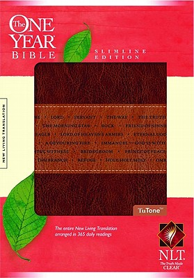 Image for The One Year Bible NLT, Slimline Edition, TuTone (LeatherLike, Brown/Tan)