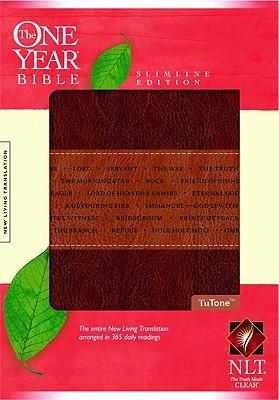The One Year Bible NLT, Slimline Edition, TuTone