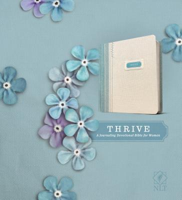 "Image for ""''NLT Thrive: A Journaling Devotional Bible for Women, Fabric Hardcover Shabby Chic Blue/Cream''"""