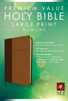 Image for Premium Value Large Print Slimline Bible NLT, TuTone