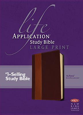 "Image for ""''Life Application Study Bible NKJV Large Print, TuTone Imitation Leather''"""