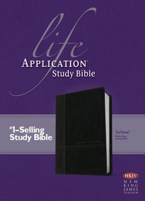 Image for Life Application Study Bible NKJV (LeatherLike, Black/Onyx)