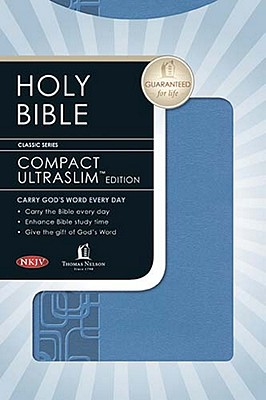 Compact UltraSlim Bible, NKJV Edition [Imitation Leather], Thomas Nelson (Author)