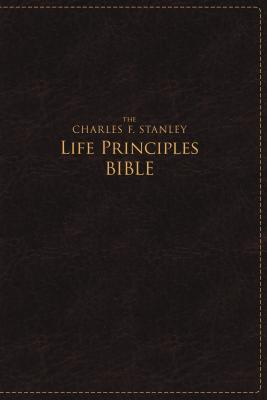 Image for NASB Charles F. Stanley Life Principles Bible Large Print Edition (Rich Burgundy)