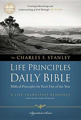 """Image for """"The Charles F. Stanley Life Principles Daily Bible (2862, NKJVDevotional, Signature Series)"""""""