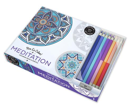 Image for Vive Le Color! Meditation (Adult Coloring Book and Pencils): Color Therapy Kit